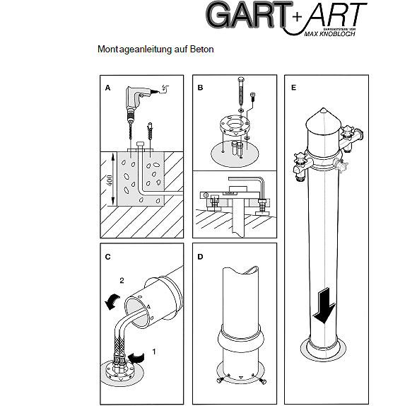 Freistehende Dusche Rund : Dusche Freistehend Rund : GART+ART Warm Wasserzapfs?ule mit Dusche