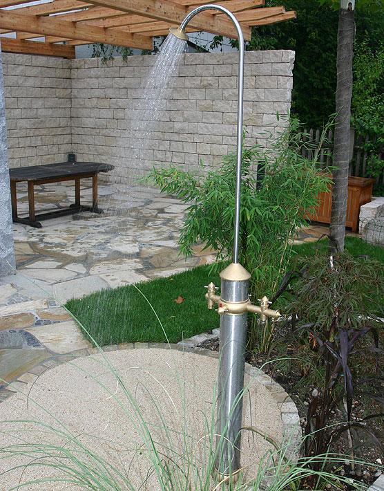 Dusche Seitenwand Freistehend : Dusche Freistehend Rund : GART+ART Warm Wasserzapfs?ule mit Dusche