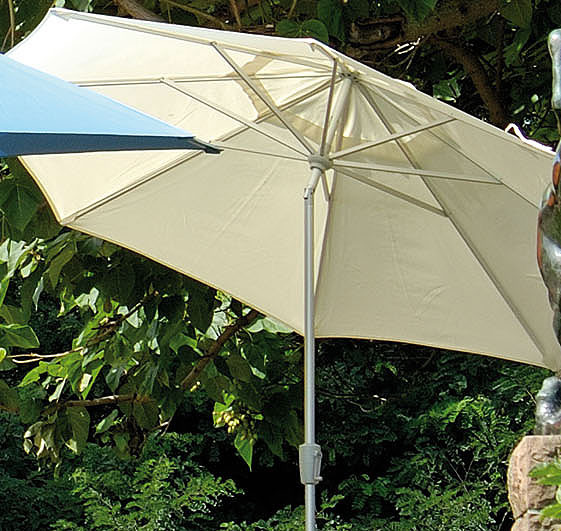 stern sonnenschirm d300 8tlg alu silb kurbel knicker art jardin. Black Bedroom Furniture Sets. Home Design Ideas