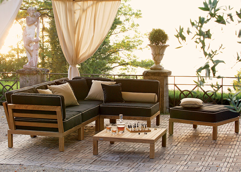 weish upl hocker element hampton teakholz sitz lounge art jardin. Black Bedroom Furniture Sets. Home Design Ideas