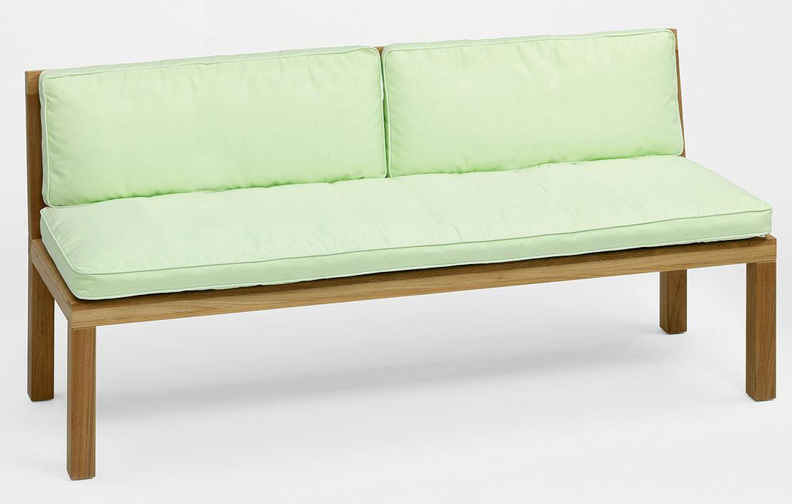 weish upl 3 sitzer teak bank hampton hao11800 teakholz gartenbank 180cm ohne armlehnen art jardin. Black Bedroom Furniture Sets. Home Design Ideas