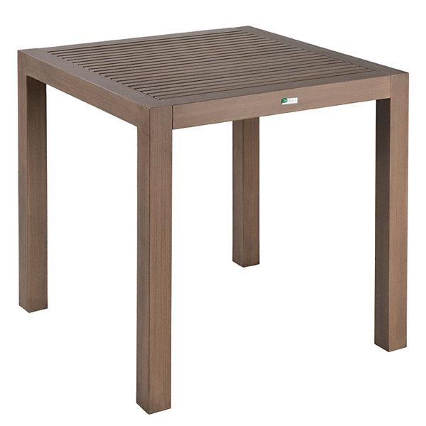 Mbm Ess Tisch Resysta 75x75cm Gelattet Teak Burma Siam Artjardin
