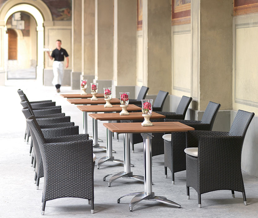 mbm bistro tisch platte resysta rund 75cm siam gartenm bel art jardin. Black Bedroom Furniture Sets. Home Design Ideas