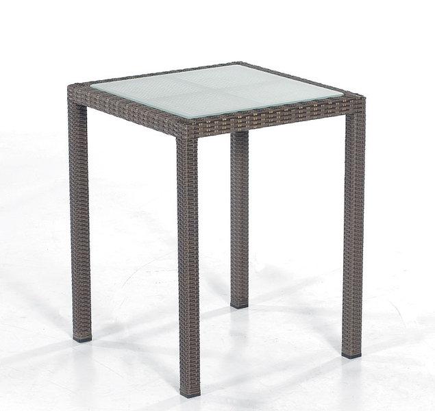 sonnenpartner tisch vera cruz 60x60cm polyrattan glas art jardin