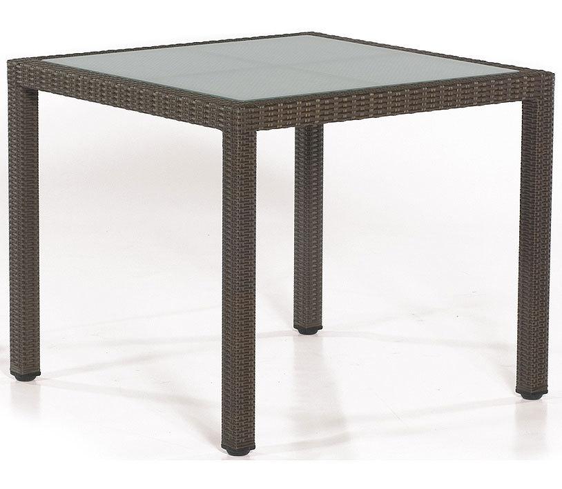 Polyrattan Tisch 90x90.Sonnenpartner Tisch 80061257 Vera Cruz 90x90cm Esstisch Alu Polyrattan Cappuccino Glasplatte