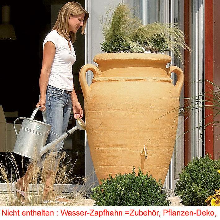 graf regenwasser tonne antik amphore 600l in 3 farben art jardin. Black Bedroom Furniture Sets. Home Design Ideas