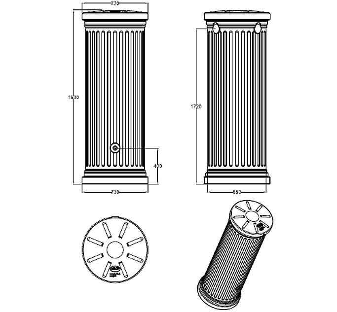 graf regenwasser s ulentank 500l sandbeige 326510 regentonne ohne zubeh r zapfhahn f ll. Black Bedroom Furniture Sets. Home Design Ideas