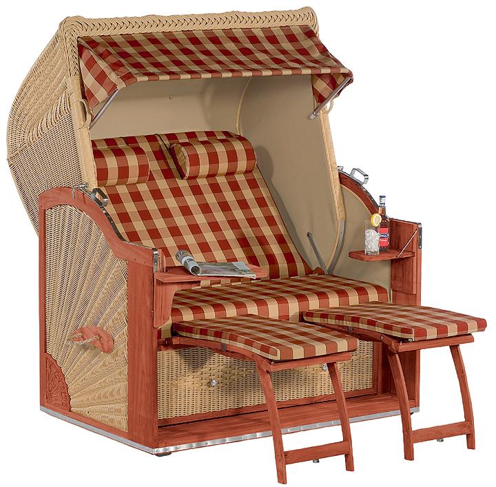 sonnenpartner exclusiv strandkorb diplomat mahagoni xl artjardin. Black Bedroom Furniture Sets. Home Design Ideas