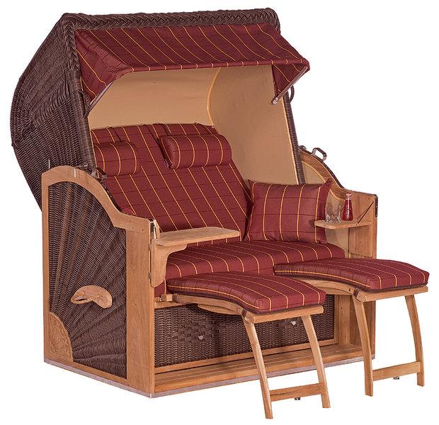 sonnenpartner exclusiv strandkorb diplomat teak 70089514 cafe braun art jardin. Black Bedroom Furniture Sets. Home Design Ideas