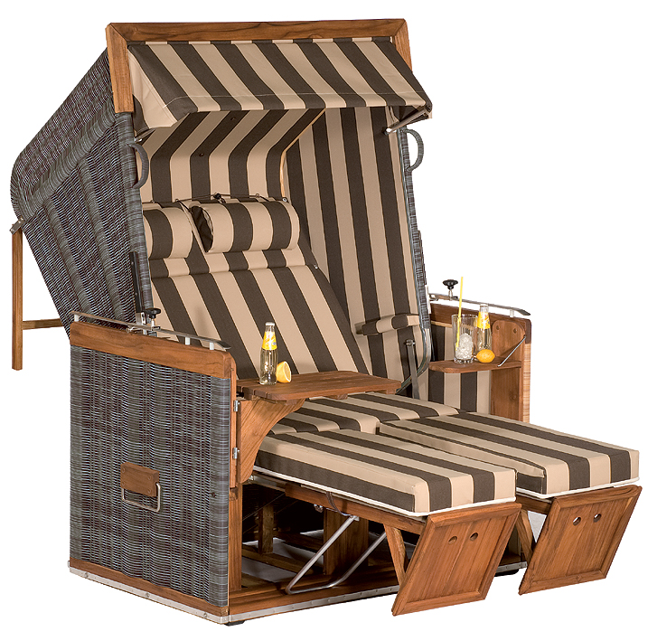 sonnenpartner premium strandkorb pr sident teakholz art jardin. Black Bedroom Furniture Sets. Home Design Ideas