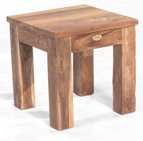 Teakholz hocker  Sonnenpartner Teak Hocker 45x45cm Charleston 80050702- Art Jardin