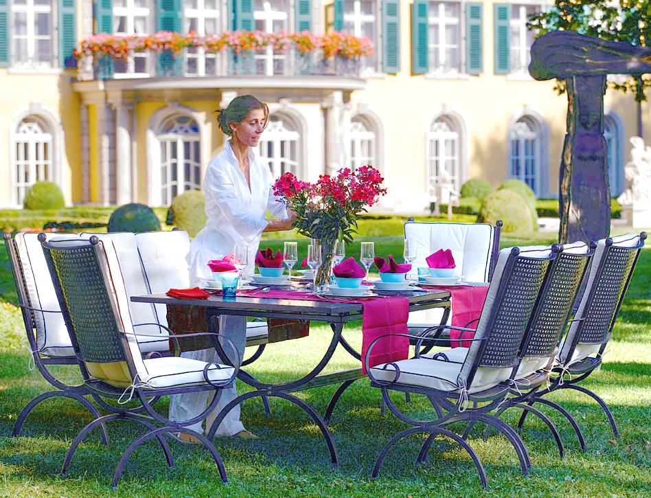 MBM 3Sitzer Garten Bank Rosanna 168641 Gartenmöbel  Art Jardin