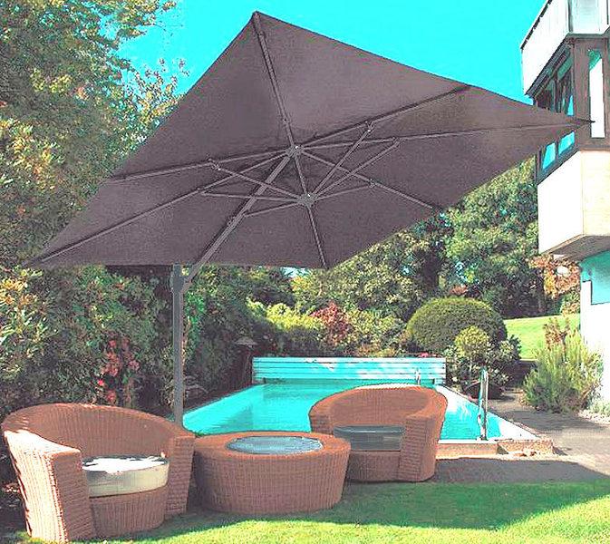 zangenberg ampelschirm monaco 3x3m sonnenschirm grau art jardin. Black Bedroom Furniture Sets. Home Design Ideas