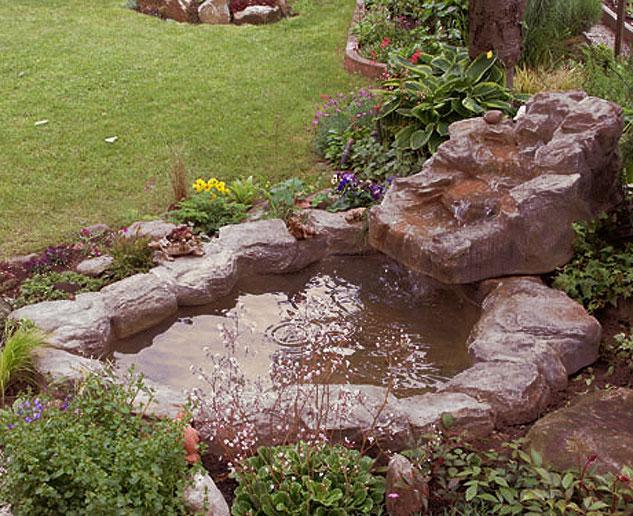 Felsdekor gartenteich anlage silbermond 14121 granit art for Gartenteich abdeckung