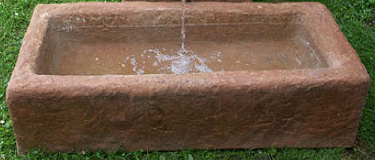 Felsdekor Wasser Becken Viehtränke 07529 sand Trog - Art ...