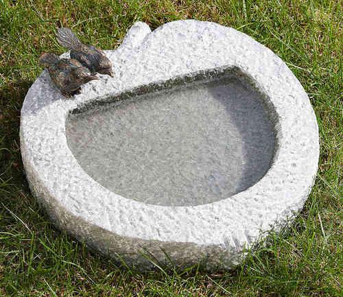Vogeltr nken vogelb der alu granit naturstein mit bronce for Art jardin ochsenfurt