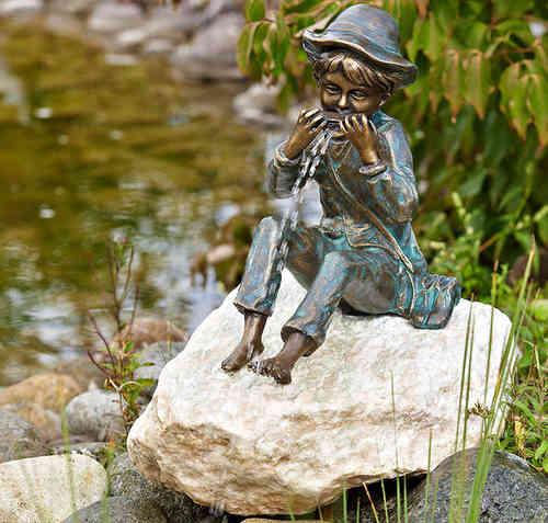 Skulpturen aus bronze art jardin - Gartenfiguren holz ...