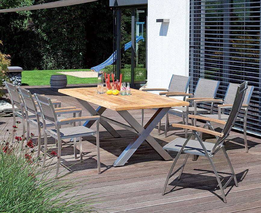 sonnenpartner klappsessel paragon edelstahl textilene art jardin. Black Bedroom Furniture Sets. Home Design Ideas