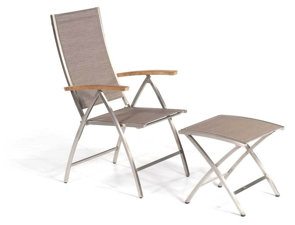 sonnenpartner fu hocker paragon edelstahl textilene artjardin. Black Bedroom Furniture Sets. Home Design Ideas