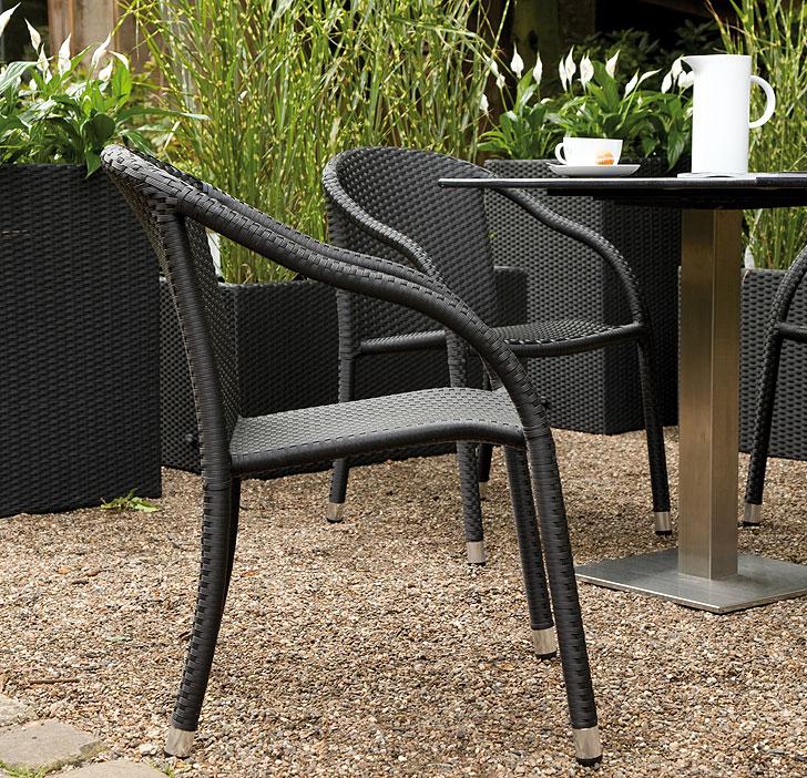 zebra sessel vienna in3 farben polyrattan gartenm bel art jardin. Black Bedroom Furniture Sets. Home Design Ideas