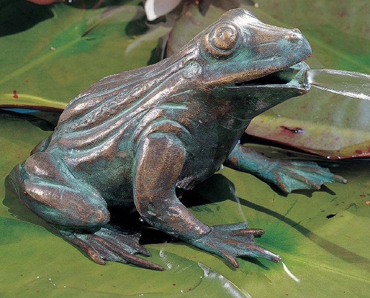 Rottenecker bronze skulptur frosch 90110 garten figur art for Frosch figuren fur garten