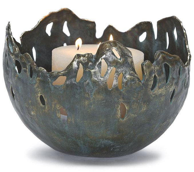 rottenecker feuerschale fire gro bronze gr n 22042 art jardin. Black Bedroom Furniture Sets. Home Design Ideas