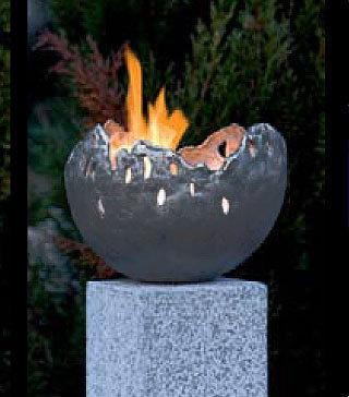 Rottenecker Feuerschale FIRE klein Bronze grün 22010 Garten ...