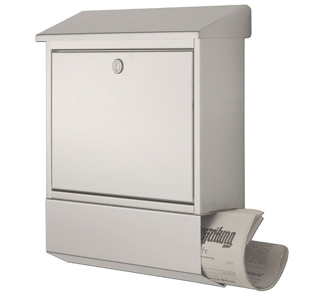 heibi briefkasten 43817 edelstahl postkasten zeitgsf art. Black Bedroom Furniture Sets. Home Design Ideas