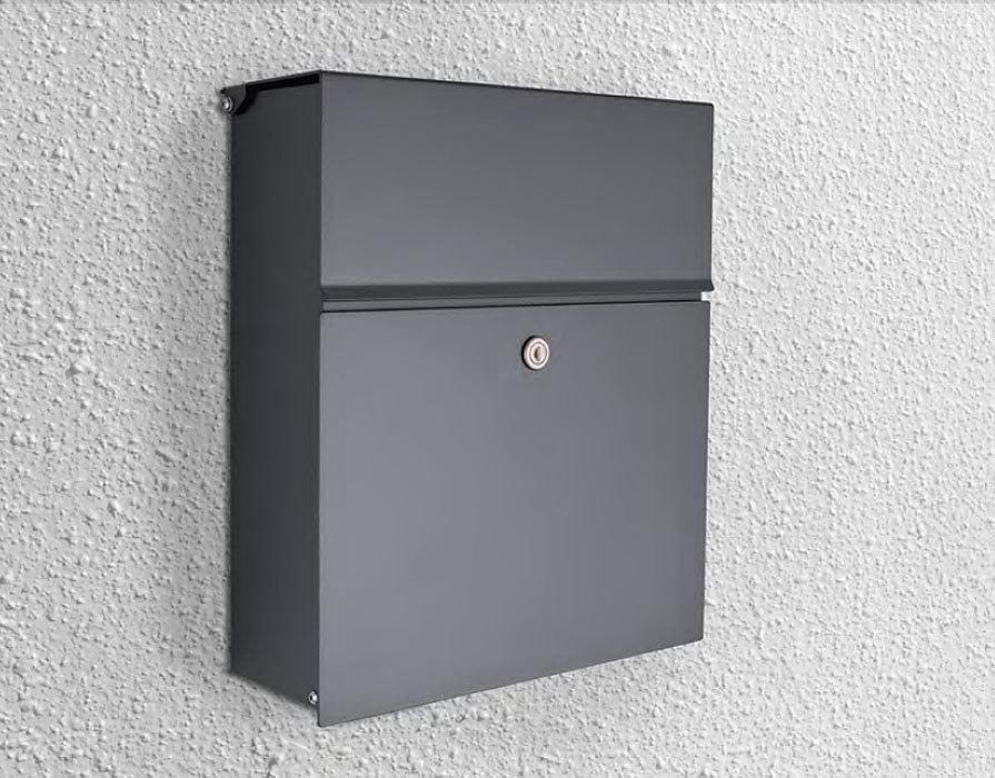 heibi briefkasten calmalux 64488 039 grafitgrau alu. Black Bedroom Furniture Sets. Home Design Ideas