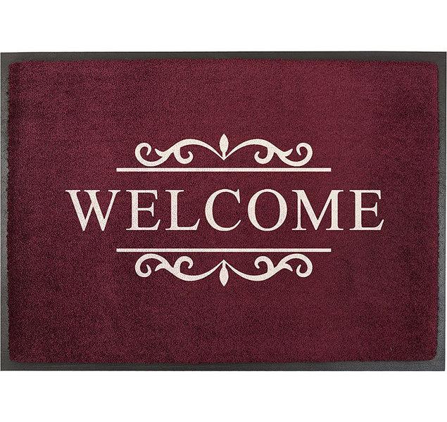 Hervorragend Akzente Easy-Clean Fußmatte 50x70 Welcome bordo 27047- Art Jardin AQ31