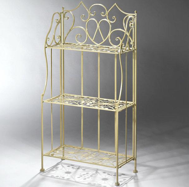 wandregal toscana 03138 metallregal creme lack 3b den art jardin. Black Bedroom Furniture Sets. Home Design Ideas