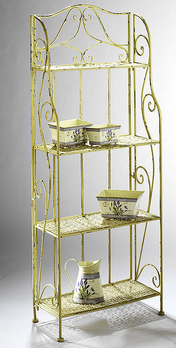 wandregal vintage 03143 02 metallregal wei m 4 b den art. Black Bedroom Furniture Sets. Home Design Ideas