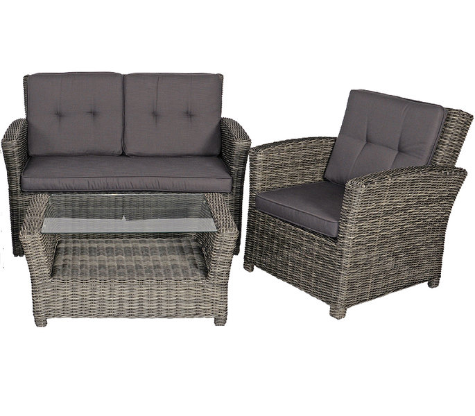 balkon lounge set 9 tlg jazz deluxe alu polyrattan art jardin. Black Bedroom Furniture Sets. Home Design Ideas