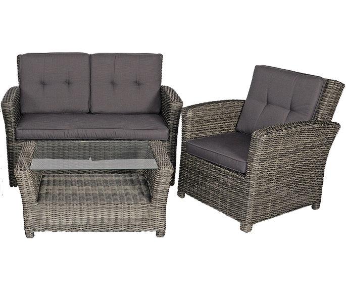 balkon lounge set 9 tlg jazz deluxe alu polyrattan art jardin. Black Bedroom Furniture Sets. Home Design Ideas