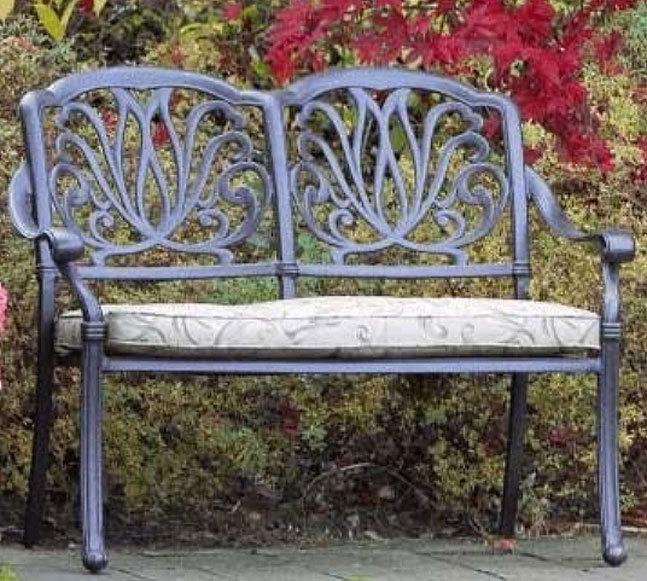 hartman 2 sitzer bank amalfi bronze gartenbank alugu art jardin. Black Bedroom Furniture Sets. Home Design Ideas