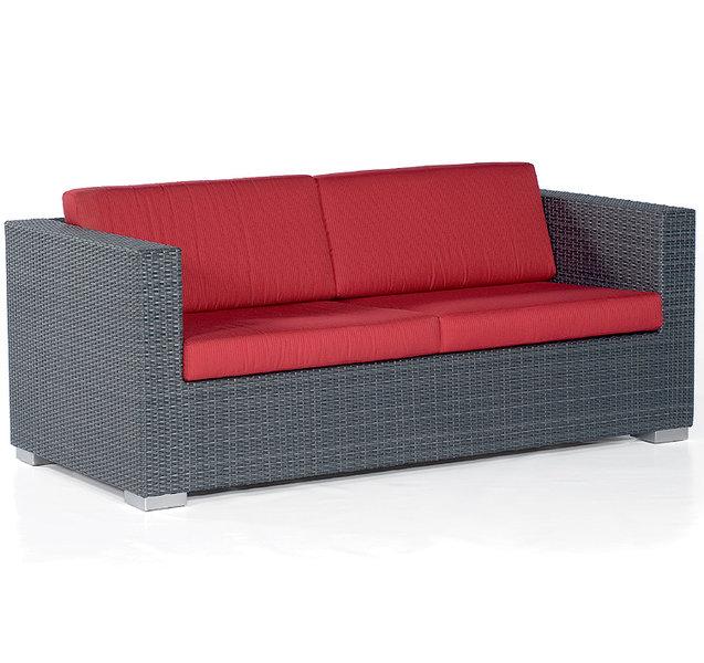 Sonnenpartner Lounge Sessel Residence Polyrattan Grau- Art Jardin