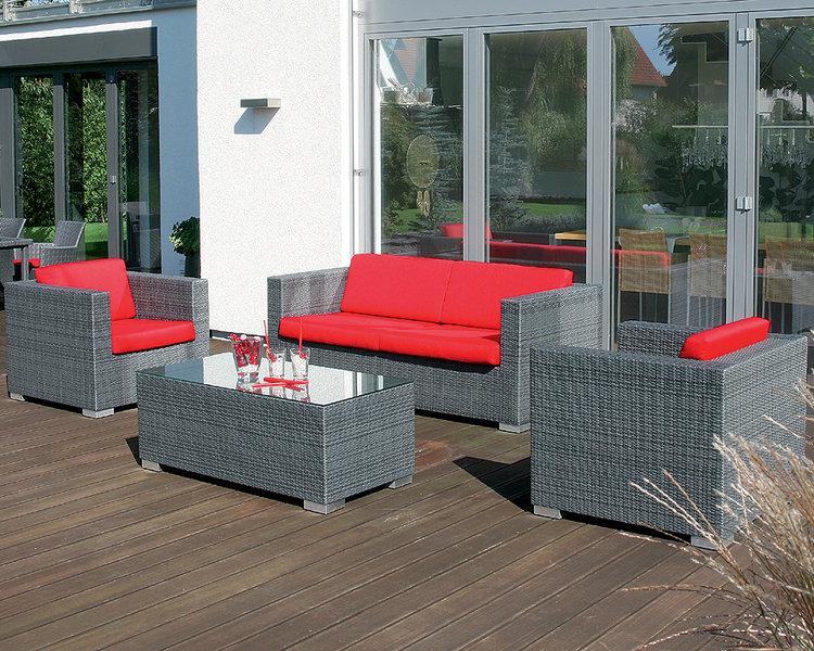 sonnenpartner lounge sessel residence polyrattan grau art. Black Bedroom Furniture Sets. Home Design Ideas