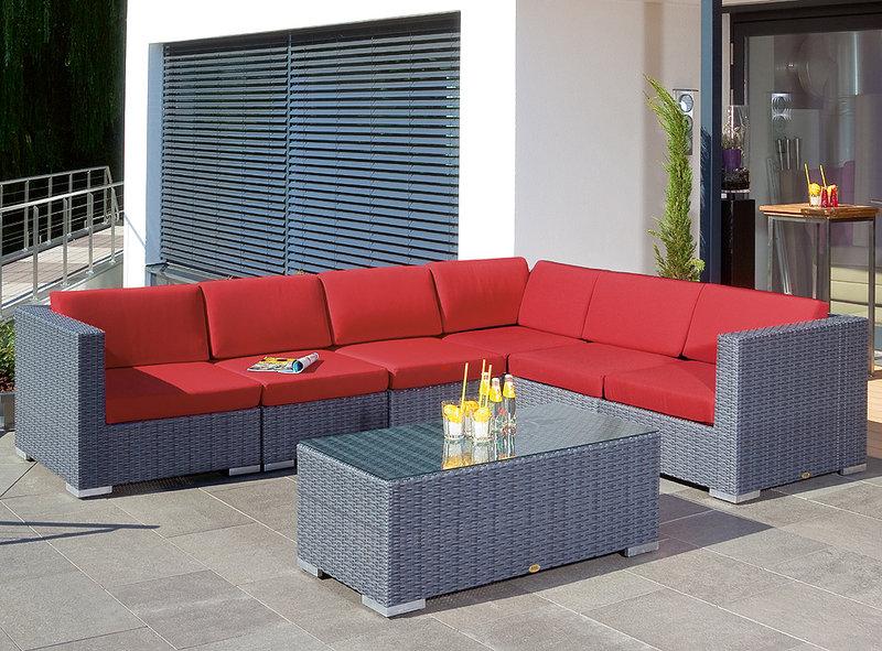 sonnenpartner lounge sessel residence polyrattan grau art jardin. Black Bedroom Furniture Sets. Home Design Ideas