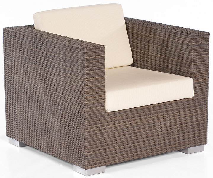 Sonnenpartner lounge sessel residence polyrattan grau art for Lounge sessel polyrattan