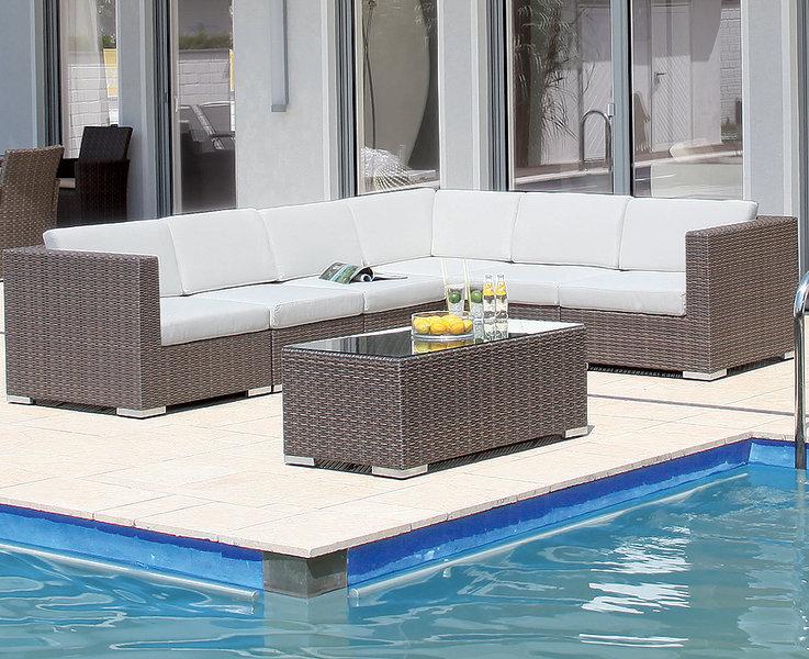 sonnenpartner 3sitzer lounge sofa residence polyrattan. Black Bedroom Furniture Sets. Home Design Ideas