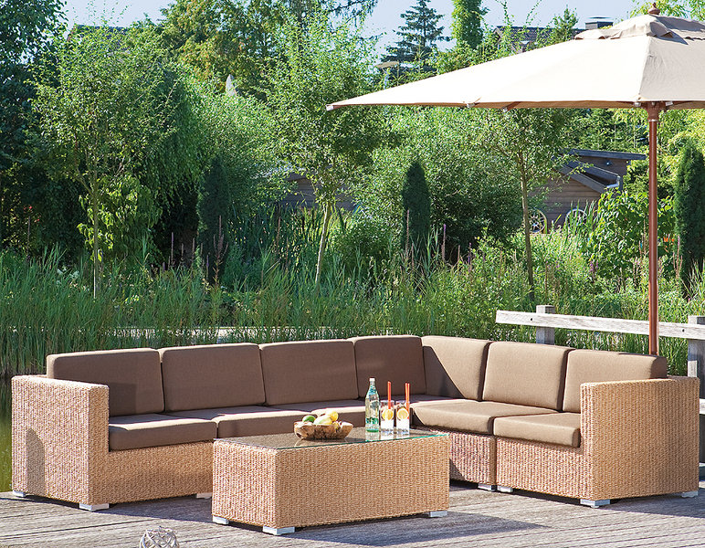Sonnenpartner lounge couchtisch 60x60 residence polyrattan for Lounge tisch design