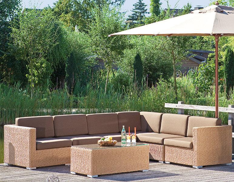 Sonnenpartner lounge couchtisch 60x60 residence polyrattan for Design lounge tisch