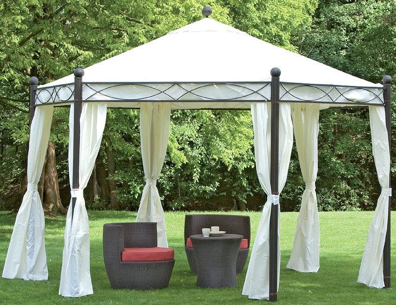 Gartenpavillon metall eckig  Siena Garden Pavillon Kenia ll 577.524 6-eckig mocca - Art Jardin