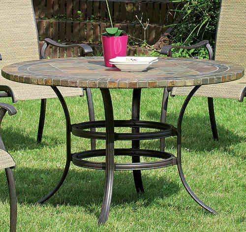 Gartentisch rund mosaik  Hartman Tisch rund 120cm Palermo Mosaikplatte +Gestell- ArtJardin