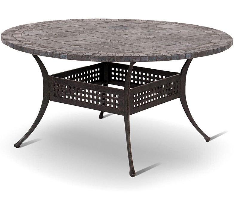 hartman tisch rund 120cm palermo mosaikplatte gestell artjardin. Black Bedroom Furniture Sets. Home Design Ideas