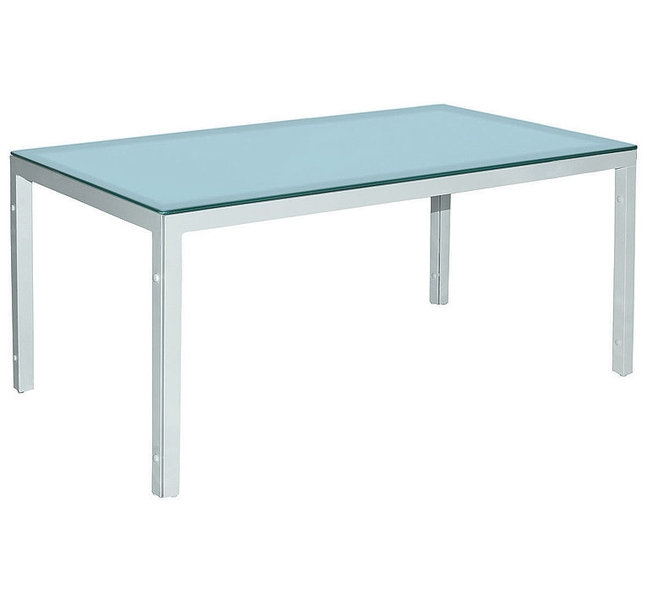MBM Tisch Manhattan weiß 90x160cm Glas Ice 60.00.0300- Art Jardin