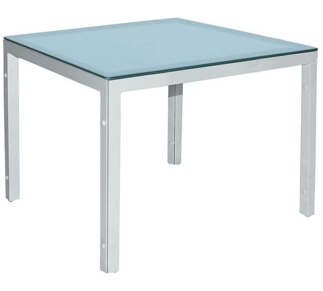 MBM Tisch Manhattan weiß 90x90cm Glas Ice 60.00.0240