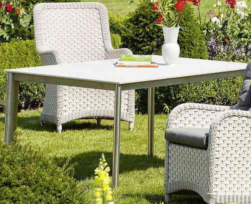 Gartenmobel Auflagen Outlet : Queen´s Garden Tischplatte 160x95cm Superstone weiß 866402 System