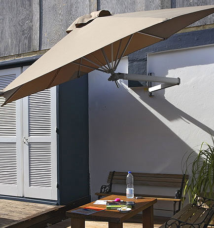 umbrosa paraflex wand schirm 220 hexagon sonnenschirm art jardin. Black Bedroom Furniture Sets. Home Design Ideas