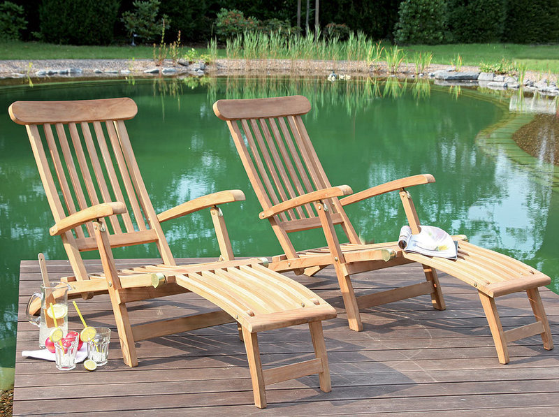 sonnenpartner deckchair manhattan 80050093 teak holz art jardin. Black Bedroom Furniture Sets. Home Design Ideas